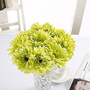 FatColo(R) 10 pcs Silk Artificial Fake Plastic Daisy Chrysanthemum Flowers Sun Chrysanthemum,Sunflower, Simulation Gerber, Dimorphotheca,Party Room Home Decoration DIY Flower Bouquet 7