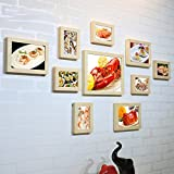 Home@Wall photo frame Hotel Lobster Crab Seafood Gourmet Wall Decoration Painting Wood Photo Frame Creative Combination Photo Wall Paintings (Color : H)