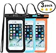 "WiHoo Waterproof Phone Case iPhone 7 Plus,Universal Waterproof Phone Pouch for iPhone X/iPhone 7/7 Plus/6/6s/6 Plus/6s Plus and Other Smart Phone Waterproof Case Up to 6.0""(3-Pack)"