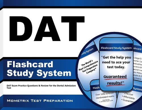 Download DAT Flashcard Study System: DAT Exam Practice Questions & Review for the Dental Admission Test Pdf