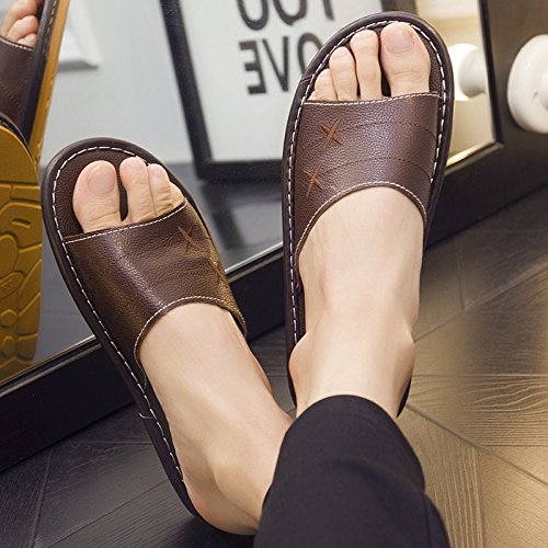 floor fankou and summer couples and 40 slip Deodorization 39 interior home anti slippers Brown home men women Slippers q4C5zqP