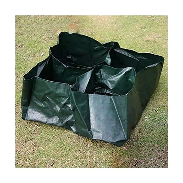 Ouqian Sacchi per Piante Orto Planter Bag 4 Tasche Growing Bag Contenitore Pouch Piante da Vaso Semina per Il… 3 spesavip