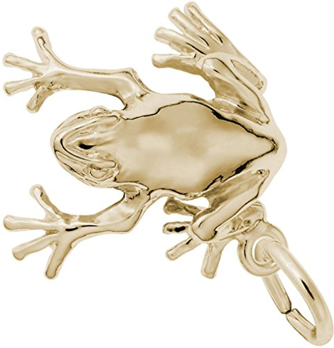 Rembrandt Tree Frog Charm - Metal - Gold Plated Sterling Silver