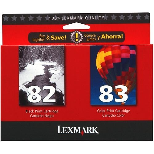 Lexmark 82 Black & 83 Color Ink Cartridge Combo Pack (18L0860)