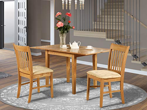 NOFK3-OAK-C 3 Pc Kitchen nook Dining set - small Kitchen Table and 2 Kitchen Dining Chairs