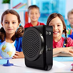 Portable Voice Amplifier, ELEGIANT 20W Booster Speaker Megaphone with Comfortable Headset Microphone, A strap, and Built-in Li Battery for Tour Guides, Teachers, Coaches, Presentations, Costumes, Etc.