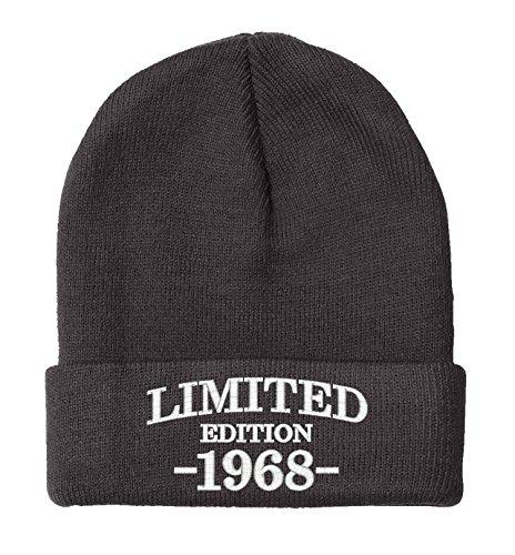 - BNE 1968-50th Birthday Gifts, Limited Edition 1968 All Original Parts, Warm Beanie Hat 1968-EM-0004-Black