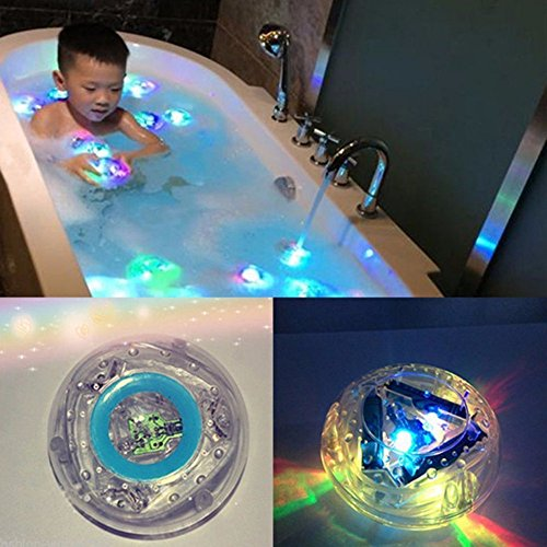 Rumfo Party in the Tub Toy Bath Water LED Lights Colorful Waterproof Toys for Kids, ideal for for Living Room, Bathroom, Bathtub, Swimming Pool, Bar 2 Light Avalon Bath