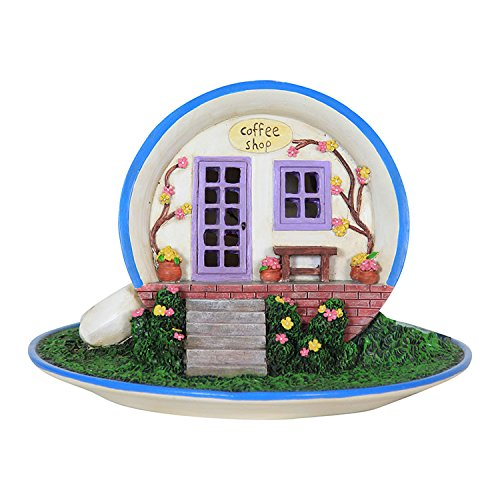 Miniature Fairy Garden Coffee Cup House - Battery Powered