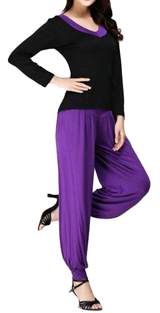 Jmwss QD Women Two-Piece Sets T-Shirt Outfits Yoga Workout Stretchy Slim Fit Tracksuits