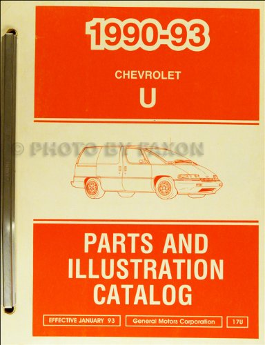 1990-1993 Chevrolet Lumina APV Parts Book Original