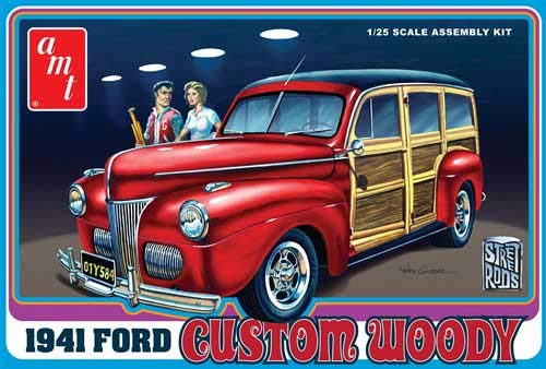 AMT 1:25 Scale 1941 Ford Woody Street Rod Model Kit from AMT