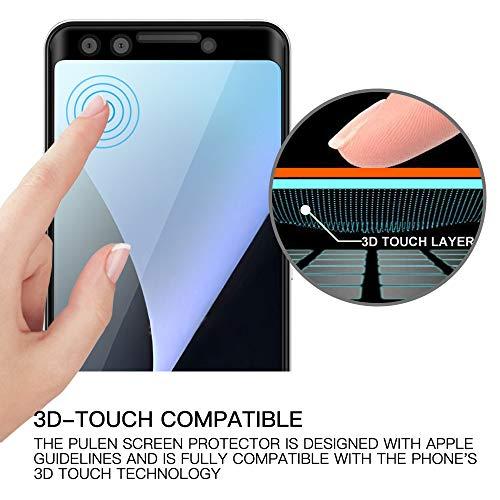 Cresee Google pixel3 3D全面吸着 強化ガラス液晶保護フィルム 指紋認証可能 反射防止 高感度 気泡ゼロ 硬度9H 耐衝撃 高透過率 超薄型 撥油性 超耐久 指紋防止 飛散防止