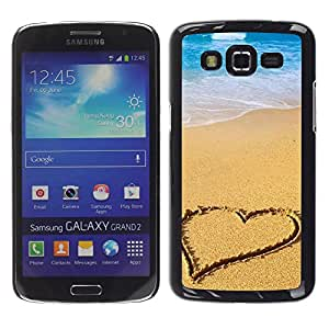 Exotic-Star ( Beach Heart ) Fundas Cover Cubre Hard Case Cover para Samsung Galaxy Grand 2 II / SM-G7102 / SM-G7105