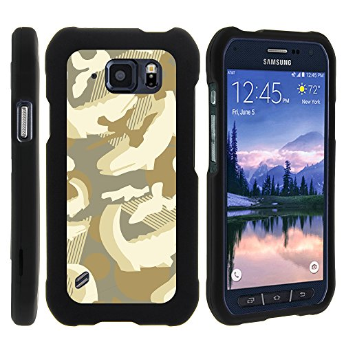 MINITURTLE Case Compatible w/Galaxy S6 Active G890 Case, Cell Phone Case Hard Cover w/Cute Design Patterns for Samsung Galaxy S6 Active SMG890 (at&T) Alligator Swamp