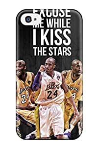 Flexible PC Back Case Cover For Iphone 4/4s - Los Angeles Lakers Nba Basketball (172)