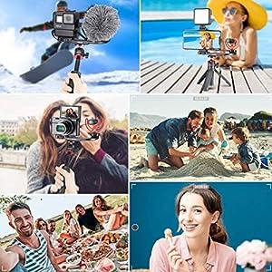 ULANZI MT-08 Mini Smartphone Selfie Stick Tripod for iPhone, Camera Extendable Handle Grip Vlog Pole for Sony RX100 VII M1 M2 M3 M4 M5 M6 A6400 A6500 Canon G7X Mark III (Color: Black)
