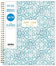 "Blue Sky 2019-2020 Academic Year Weekly & Monthly Planner, Flexible Cover, Twin-Wire Binding, 8.5"" x"