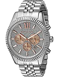 Michael Kors Mens Lexington Silver-Tone Watch MK8515