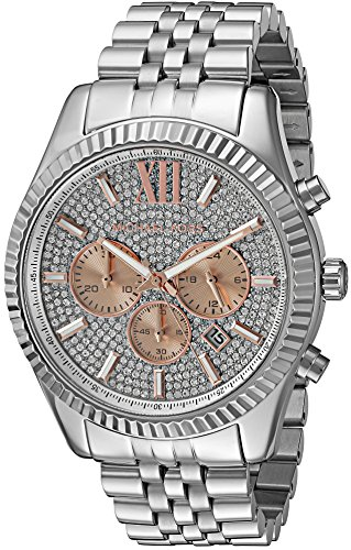 Michael Kors Men's Lexington Silver-Tone Watch - Guys Michael Kors