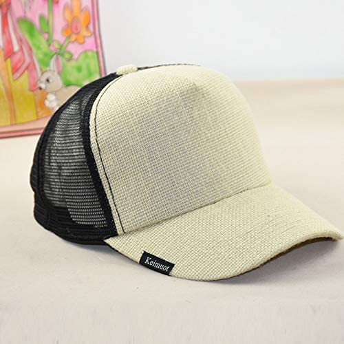 Sunhat Summer mesh hat solid color big head circumference deepen and heighten hemp material cap large sun hat hat