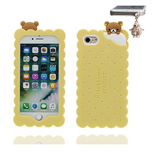 """iPhone 6 Coque (4.7"""") , [ TPU Flexible ours, bear ] Étui pour iPhone 6S (4.7""""), iPhone 6 Case, Dust Slip Scratch Resistant et Bouchon anti-poussiè"""