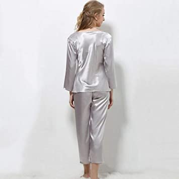 WLG Cómodos Pijamas para el hogar Compre algodón con Bolsillos ...