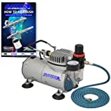Master Airbrush Compressor with Water Trap and Regulator, Now Includes a (FREE) 6