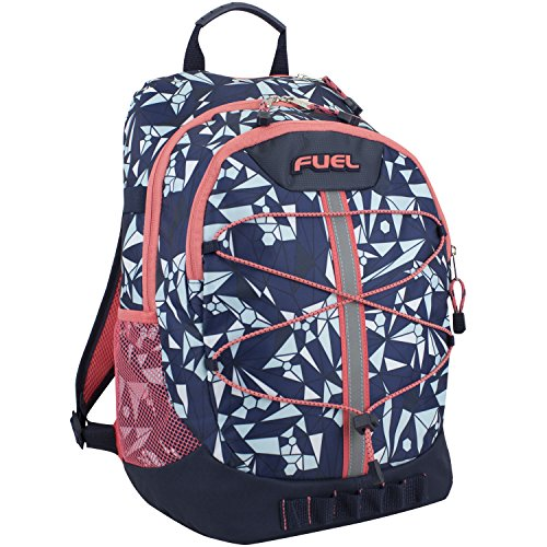 Fuel Terra Sport Spacious School Backpack With Front Bungee  Blue Coral