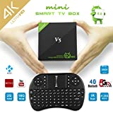 Android 6.zero Mini Sensible TV BOX, Amlogic S905X Quad Core, 64 bits Mostfeel 2GB 16GB H.265 HD HDR Netflix Kodi 4K Streaming Media Participant, 2.4G+5G Twin Band Wifi Bluetooth four.zero LAN IR Mini I8 Keyboard