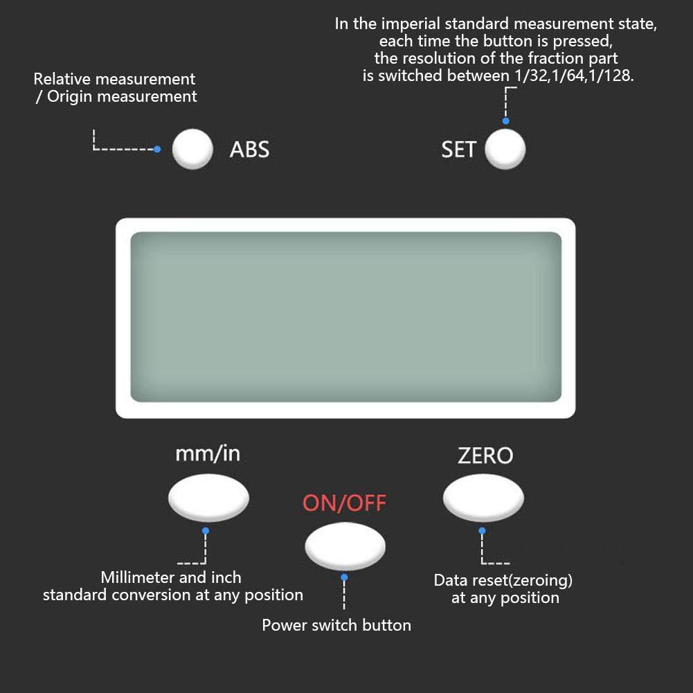 Nitrip Escala de Lectura Kit Lcd Digital de Escala Lineal Precisa de 0-150 Mm para Tornos de Fresadoras