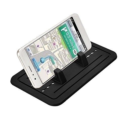 aceyoon For iPhone Holder Car Silicone Pad Dash Mat Width Adjustable Universal Cell Phone Desk Holder Bracket DashBoard Anti-slip for iPhone 7 / 7 Plus / 6 / 6 Plus / Samsung / Android Cell Phone
