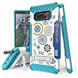 BC TriShield Compatible with Samsung Galaxy Note 8 Case Military Grade Drop Tested Cover - (Circle Collage)