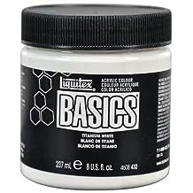 Liquitex Basics Acrylic Paint 8-Ounce Jar, Titanium White