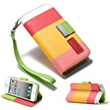 2010kharido Apple iPhone 4 4S Leather Flip Designer Stripe Wallet Case Cover Pouch Table Talk New Yellow