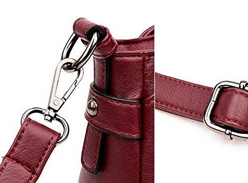 Achats Cuir FBUFBD180862 tout AllhqFashion à bandoulière Sacs Sacs fourre Vineux Pu Zippers Femme Rouge AxqYH6f