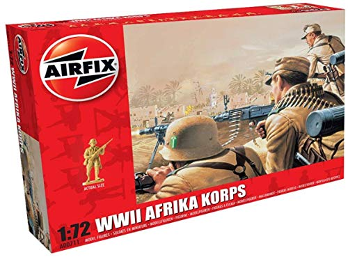 Airfix A00711 WWII Soldier Figures 1:72nd Scale Military Figurine, (Pack of 48)