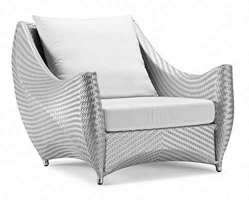 100Essentials Peak Chair with Cushion, White Smoke