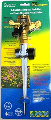 QVS 423039 Aluminum and Zinc Adjustable Full or Part Circle Impact Sprinkler, 1/2-Inch, Black