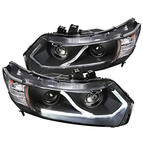 Spec-D Tuning 2LHP-CV062JM-RS Spec-D Led Projector Headlight Black Housing Civic Projector Headlights Black Housing
