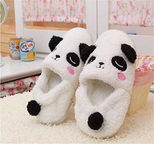 Adorable cartoon anti-slid house slippers cover heel Panda slippers M