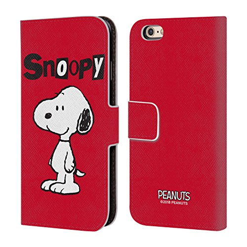 (Official Peanuts Snoopy Characters Leather Book Wallet Case Cover for iPhone 6 / iPhone 6s)