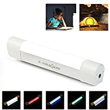 LED Light X-DRAGON Multifunction Work Light with 6000mAh Portable Charger Function, 10-Level Brightness Rechargeable Emergency USB Charging Magnetic LED Flashlight Lantern for Outdoors, Camping, Hiking, Fishing