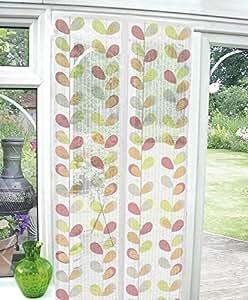 Cierre magnético de hojas de naranja rojo y verde automático blanco para pesca con mosca lote de cierre para puerta de pantalla para cortinas de 90 cm x 210 cm Hallways