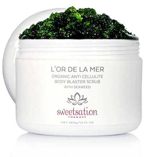L'or de la Mer Organic Anti Cellulite Body Blaster Scrub with Seaweed, 12oz (Best Drugstore Anti Cellulite Cream)