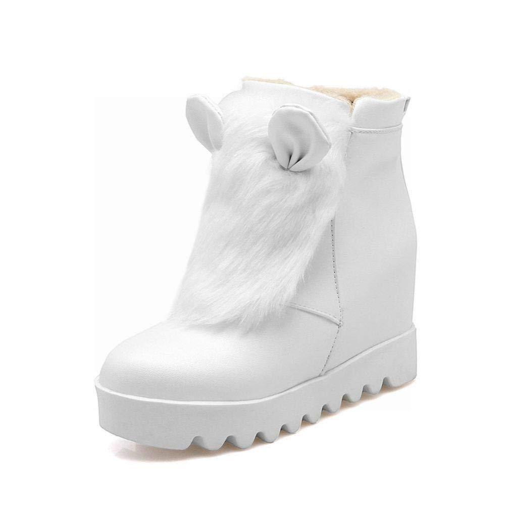 ZHRUI Stivali da Donna - Western Fashion Warm Anti-Skiing stivali stivali stivali Flat Stivali da Donna in Cotone Stivali da Donna a maggiorazione 34-43 (colore   Bianca, Dimensione   41) 80f0b6