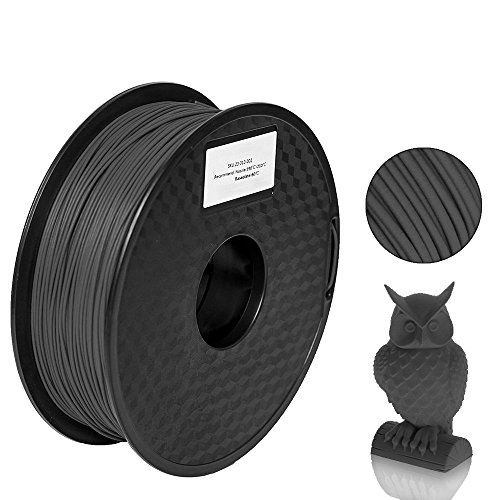 Carbon Fiber Water Mechanical (Pxmalion Carbon Fiber PLA 3D Printer Filament, Bright Black, 1.75mm, Accuracy +/- 0.05mm, Net Weight 1KG(2.2LB))