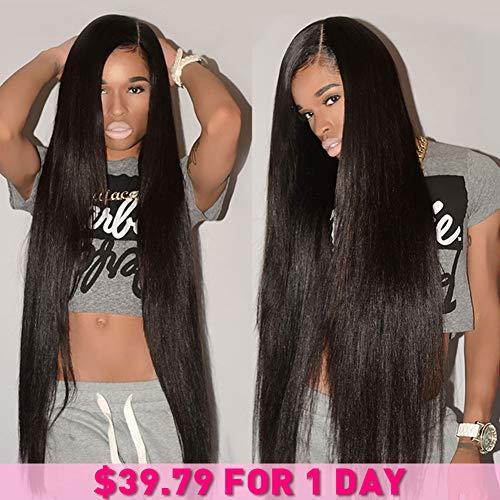 CYNOSURE Brazilian Hair 3 Bundles 8A Virgin Unprocessed Straight Human Hair 18 20 22inches Brazilian Straight Hair ()