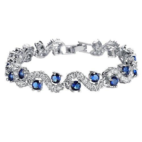 Platinum Swarovski Elements Zirconia Bracelet product image