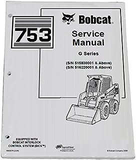 51RCPeB4CcL._AC_UL320_SR272320_ amazon com bobcat 753, 753h skid steer loader complete shop service